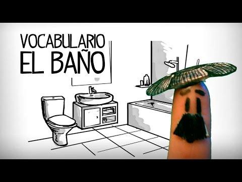 Vocabulario cuarto de baño en español, partes de la casa ...